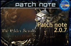 Patch note eso 2.0.7