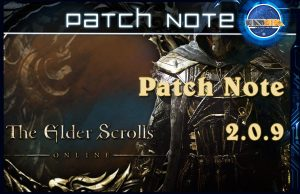 Patch note eso 2.0.9